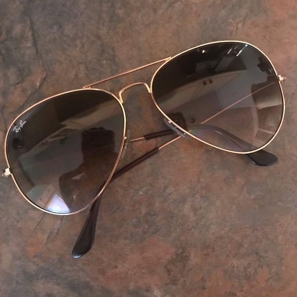 29f92b1433a4 Ray-Ban Accessories | Large Gold Aviator Sunglasses | Poshmark